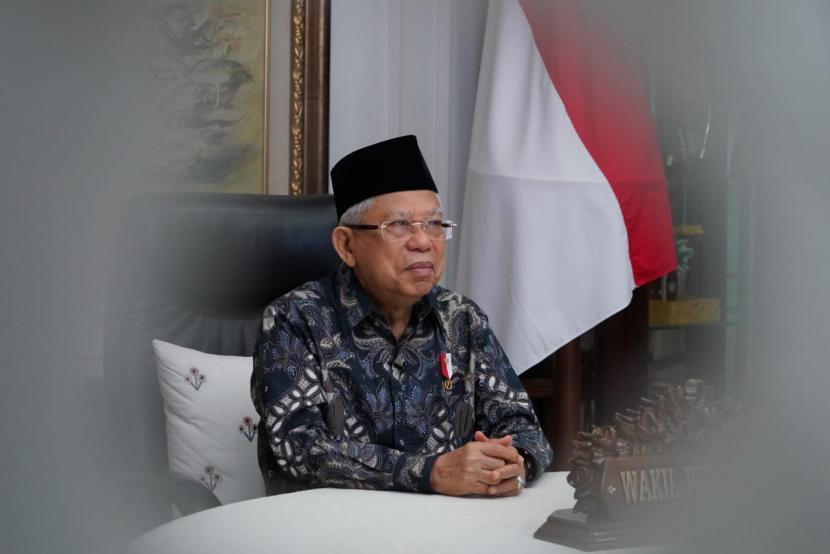 Wakil Presiden Maruf Amin. Wapres mengungkap dua kawasan industri halal yang akan dibangun di NTB.