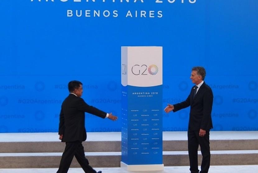 Wakil Presiden RI HM Jusuf Kalla menghadiri Konferensi Tingkat Tinggi (KTT) G20 yang berlangsung di Buenos Aires, Argentina  30 November hingga 1 Desember 2018.
