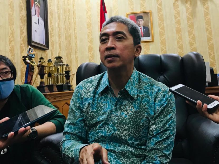 Wakil Wali Kota Bogor, Dedie A. Rachim di Balai Kota Bogor, Jumat (26/3).