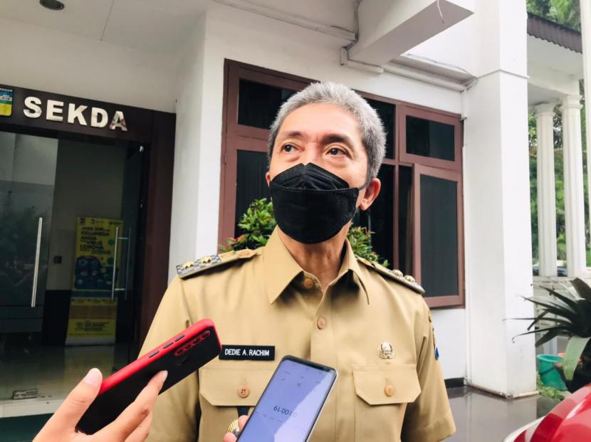 Wakil Wali Kota Bogor, Dedie Abdu Rachim di Balai Kota Bogor, Jawa Barat, Senin (7/6).
