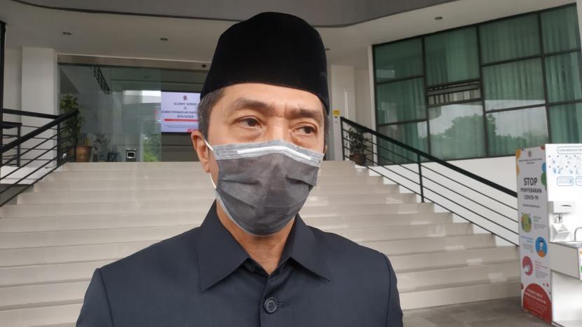 Wakil Wali Kota Bogor Dedie A Rachim usai menghadiri rapat paripurna di Gedung DPRD Kota Bogor, Senin (14/9).