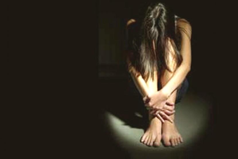 Wanita depresi (ilustrasi).
