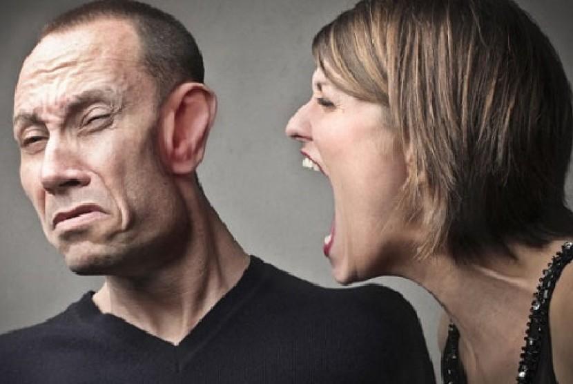 Wanita marah (Ilustrasi)