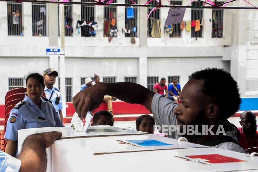 Pencoblosan Pemilu 2019 susulan di Jayapura, Papua. (Ilustrasi)