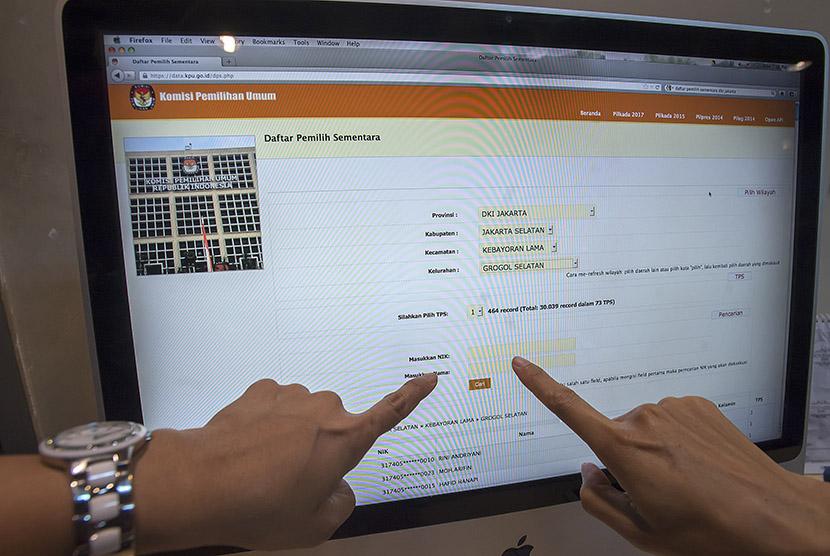 Situs KPU (Ilustrasi).