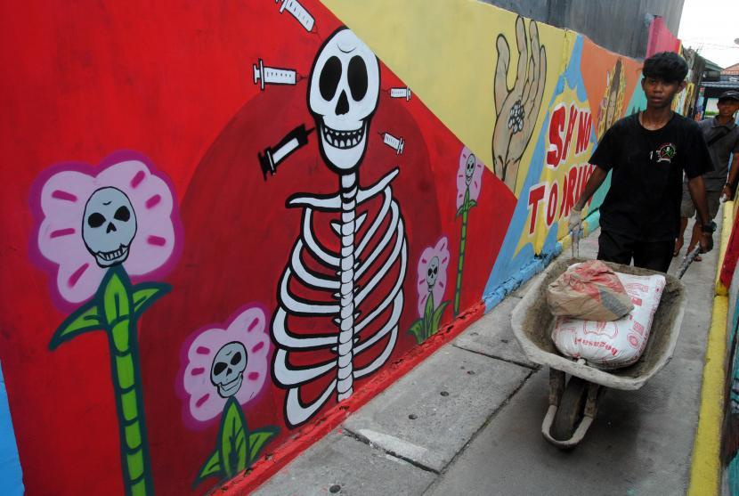 Ilustrasi mural. Mural dan sketch dinilai dapat jadi daya tarik wisata.