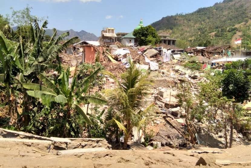 Quake affected areas in Lombok, West Nusa Tenggara.