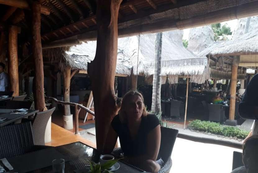 Wisatawan asal Belanda, Tasya, menilai sektor pariwisata pariwisata di Lombok masih aman untuk dikunjungi.