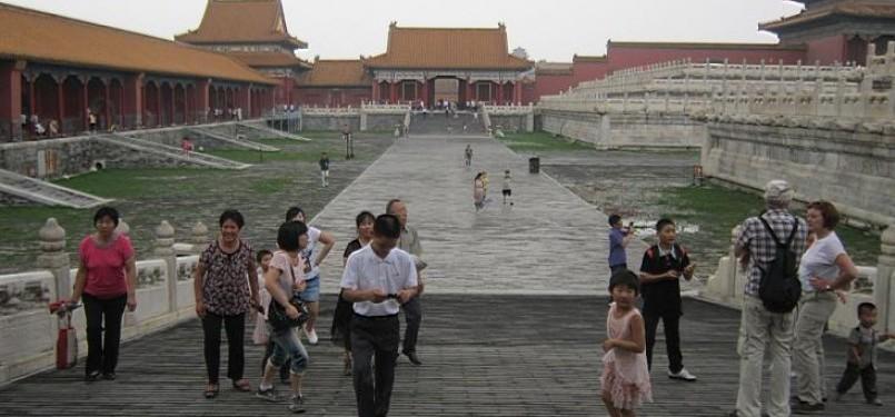 Wisatawan di Forbidden City, Beijing