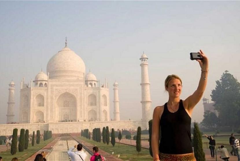 Wisatawan di India