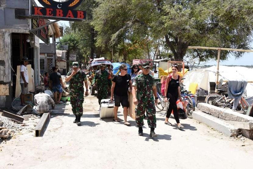 Wisatawan mancanegara mulai kembali datang ke Gili Trawangan di Kabupaten Lombok Utara, NTB, pada Kamis (6/9).