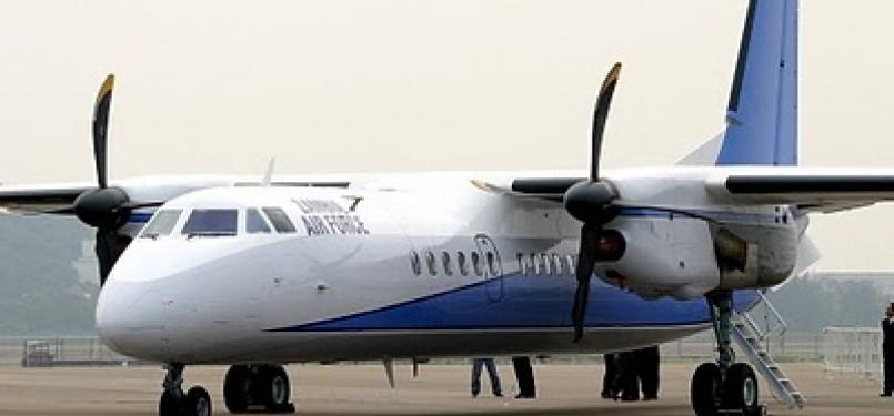 Xian MA-60 yang digunakan Merpati Nusantara Airlines.