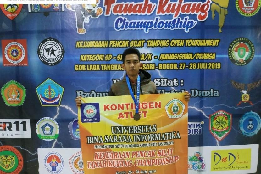 Yoga,  atlet UBSI yang berhasil meraih mendali perunggu dalam kejuaraan TKC 2019.