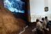 Jamaah haji sedang menyaksikan tayangan tentang perjuangan awal Islam di Museum As haabee, Makkah, Rabu (14/8).