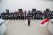 Para petugas kesehatan haji melaksanakan upacara Kemerdekaan Republik Indonesia yang ke-74 di KKHI Makkah, Sabtu (17/8).