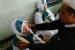 Saniyah (58 tahun), warga Desa Kamarang, Greged, Cirebon, Jawa Barat, saat ditemui di Masjid Baiturohmah Cirebon sebelum bertolak ke Asrama Haji Cirebon, Selasa (16/7)