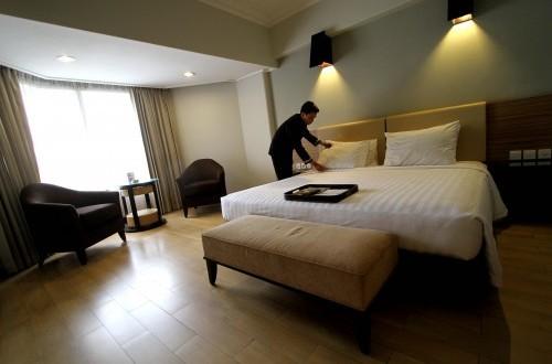 Pengunjung Hotel di Lampung Turun