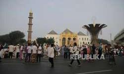 Masjid Agung Palembang Batasi Jamaah Sholat Id 1.000 Orang