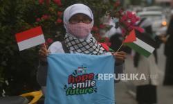 In Picture: Aksi Solidaritas bagi Palestina di Palu dan Karawang