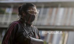 Warga Bandarlampung Masih Gunakan Masker Scuba