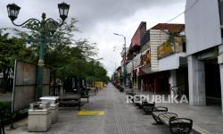 In Picture: Suasana Malioboro di Tengah Perpanjangan PPKM Level 4