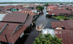 In Picture: Banjir Palangkaraya Semakin Meluas