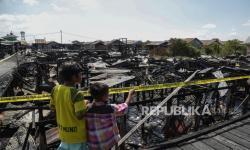 In Picture: Kebakaran Hanguskan 24 Rumah di Palangkaraya
