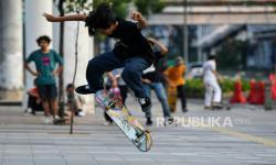 Kasatpol PP DKI: Pemain <em>Skateboard</em> di HI Langgar Prokes