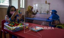In Picture:  Uji Coba Pembelajaran Tatap Muka Terbatas TK di Bandung