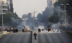 Suasana Lebanon Sepi Usai Bentrokan di Beirut