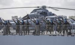 In Picture: Panglima Lepas Satgas Pasukan Perdamaian Maritim ke Konga