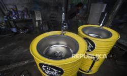 In Picture: Wastafel Portabel dari Drum Bekas, Peluang Bisnis Pandemi
