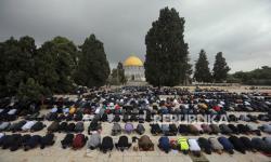 20 Ribu Jamaah Tunaikan Sholat Jumat di Masjid Al-Aqsa