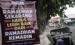 In Picture:  Pamflet Nasihat Ramadhan Hiasi Jalan di Yogyakarta