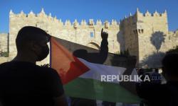 Bendera Palestina Berkibar di Luar Gedung Parlemen Denmark