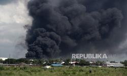 In Picture: Kebakaran Kilang Cilacap Berhasil Dipadamkan