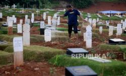 Makam Covid-19 di TPU Padurenan Tersisa untuk 300 Jenazah