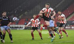 In Picture: 10 Pemain Sheffield Taklukkan Aston Villa 1-0