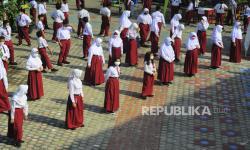In Picture: Proses Belajar Tatap Muka Siswa SD dan SMP di Kota Jambi