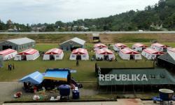 Ribuan Pengungsi di Kota Mamuju Enggan Pulang