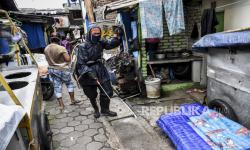 Dua Titik di Sukabumi  Disemprot Disinfektan dengan Drone