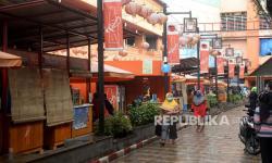 In Picture: Omzet Pusat Kuliner Teras Surken Bogor Turun Akibat Pandemi