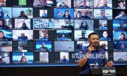 In Picture: Sikapi KLB, AHY Gelar Rapim Secara Daring