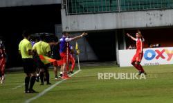In Picture: Babak Pertama, Persija Unggul Dua Gol Atas Persib