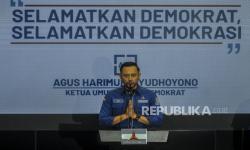 In Picture: Momen Saat Pidato AHY-SBY Selalu Sebut Jabatan Moeldoko