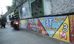 In Picture: Lukisan Mural Pencegahan Covid-19