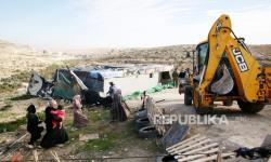 Israel Bongkar Rumah Warga Palestina di Desa Jawaya