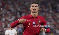 Pemain Portugal Cristiano Ronaldo merayakan keunggulan 1-0 selama pertandingan sepak bola babak penyisihan grup F UEFA EURO 2020 grup F UEFA EURO 2020 antara Portugal dan Prancis di Budapest, Hongaria, 24 Juni 2021.
