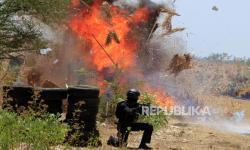 In Picture: Latihan Pertahanan Pangkalan Udara El Tari Kupang