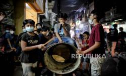 In Picture: Takbir Keliling di Kawasan Sawah Besar Jakarta
